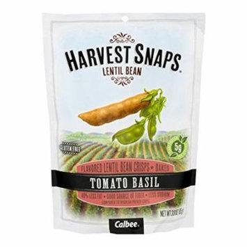 Calbee Harvest Snaps Lentil Snaps Tomato Basil Baked Lentil Bean Crisps 3 OZ (Pack of 3)