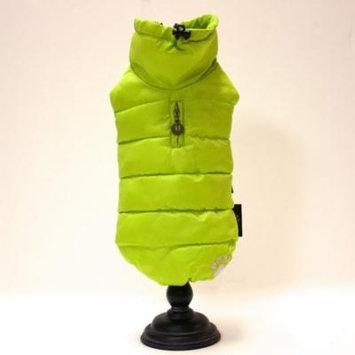 Alpha Dog Series Puffy Parka Vest - Neon Yellow (M)