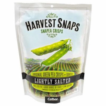 Calbee Harvest Snaps Snapea Crisps Lightly Salted Baked Green Pea Crisps 3.3 OZ (Pack of 12)