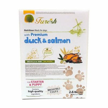 Furesh Dry Dog Food w/ Premium Duck & Salmon, 2.6 Lbs -(Starer & Puppy)