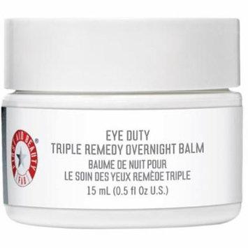 4 Pack - First Aid Beauty Eye Duty Triple Remedy Overnight Balm 0.5 oz