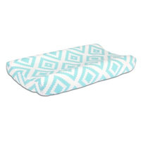 The Peanut Shell® Tiles Changing Pad Cover in Teal