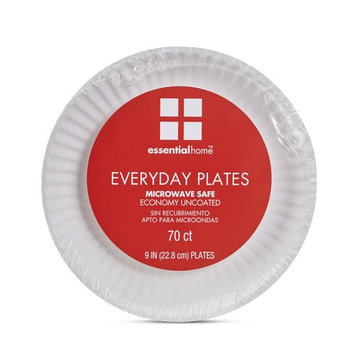 Essential Home Everyday Paper Plates - 70 Count