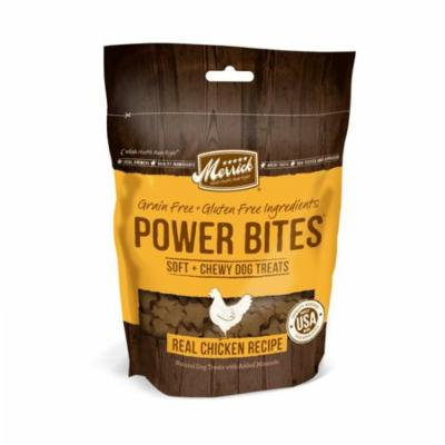 Merrick Power Bites Soft & Chewy Dog Treats - Real Chicken Recipe 6 oz - Pack of 2