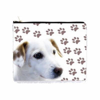 White Retriever Dog with Pawprints - Double Sided 6.5