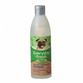 Fresh 'n Clean Everyday Fresh Oatmeal & Baking Soda Dog Shampoo - Hawaiian Scent 16 oz - Pack of 2