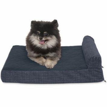 FurHaven Quilted Fleece & Print Suede Chaise Lounge Cooling Gel Top Sofa Pet Bed Dog Bed