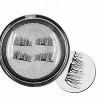 New Women's 3D False Eyelashes Long Cross Natural Fake Eyelash with Applicator Kit - 3 PAIR
