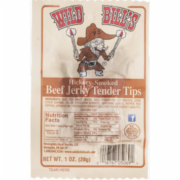 Wild Bill's Hickory Smoked Beef Jerky Tender Tips- 1 oz. Bag 6-Pack