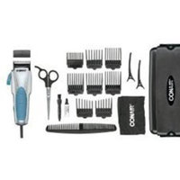 Conair Custom Cut 18-piece Haircut Kit; Home Hair Cutting Kit with No Slip Grip