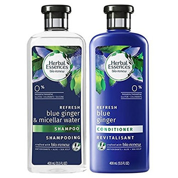 Herbal Essences, Shampoo and Sulfate Free Conditioner Kit, BioRenew Micellar Water & Blue Ginger, 13.5 fl oz, Kit