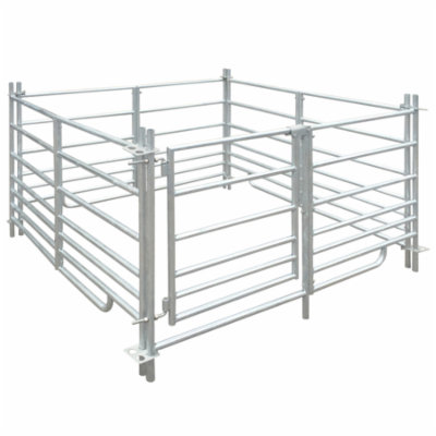 4-Panel Sheep Pen Galvanized Steel 53.9