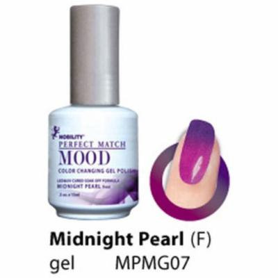 LECHAT Soak off Gel Mood Changing Color - MPMG07 Midnight Pearl