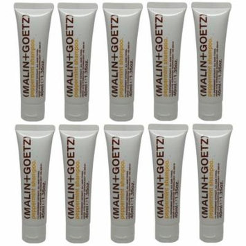 Malin+Goetz Peppermint Shampoo lot of 10 tubes each 1.35oz Total of 13.5oz