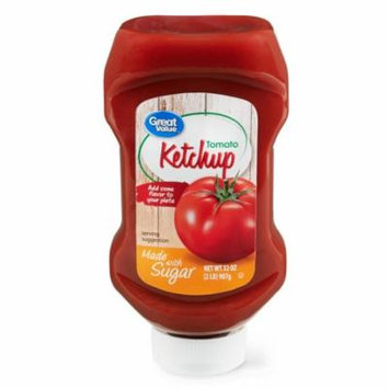 Great Value Tomato Ketchup with Sugar, 32 oz
