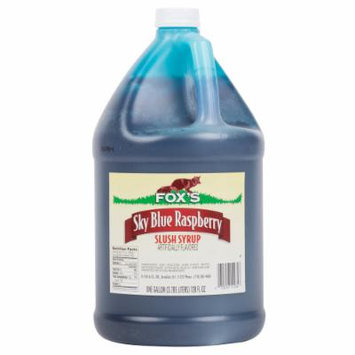TableTop King 1 Gallon Blue Raspberry Slush Syrup - 4/Case