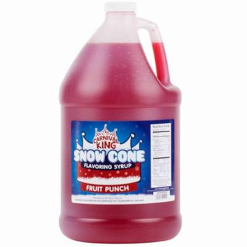 TableTop King 1 Gallon Fruit Punch Snow Cone Syrup - 4/Case