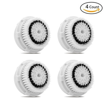 4 Pack Sensitive Brush Replacements Head Compatible with Mia Mia2 Mia3 Aria Mia Fit Smart Profile and Alpha Fit Facial Cleansing System