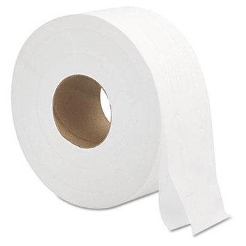 Jumbo Roll Bath Tissue, 2Ply, 9, White, 12carton