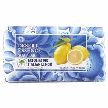 4 Pack - Desert Essence Bar Soap, Exfoliating Italian Lemon 5 oz