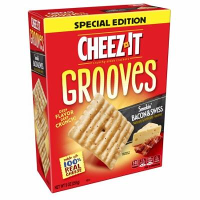 Cheez-It Grooves Bacon Swiss Baked Snack Crackers 9 Oz