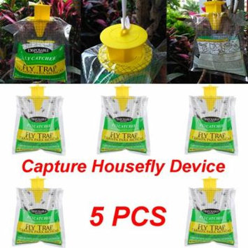 Outtop 5PCS Outdoor Disposable Fly Catcher Control Trap with Attractant Insecticide