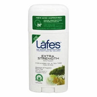 24-Hour Protection Deodorant Stick Extra Strength Coriander Oil & Tea Tree - 2.25 oz. by Lafe's (pack of 1)