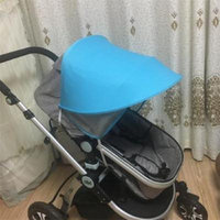 Anti-UV Sunshade Canopy Cover For Baby Stroller Black Shade Cape