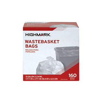 Office Depot Trash Bags, 10 Gallons, Box Of 160, DP00504