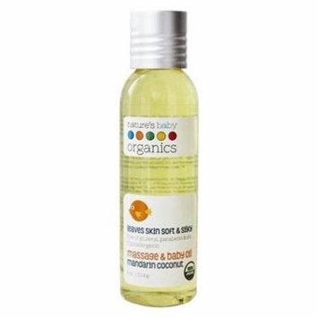 Organic Baby Oil Mandarin Coconut Mandarin Coconut - 4 fl. oz. by Nature's Baby Organics (pack of 3)