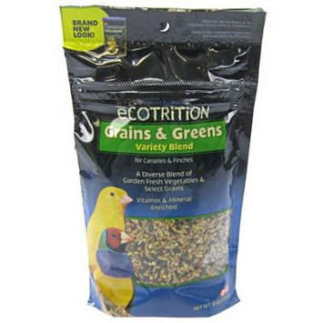 Ecotrition Grains & Greens Variety Blend for Canaries & Finches 8 oz - Pack of 2