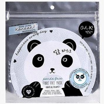 Oh K! Panda Face Fibre Face Mask Set of 3 Masks
