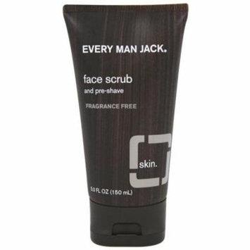 6 Pack - Every Man Jack Face Scrub, Fragrance Free 5 oz