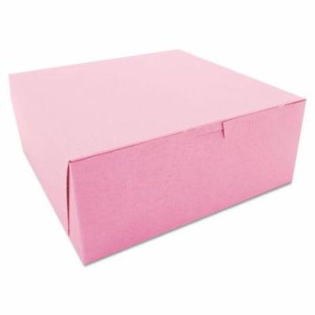 Non-Window Bakery Boxes, 10 X 10 X 4, Pink, 100/carton
