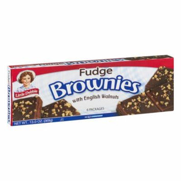 Little Debbie Fudge Brownies with English Walnuts 13 oz Box - Single Pack