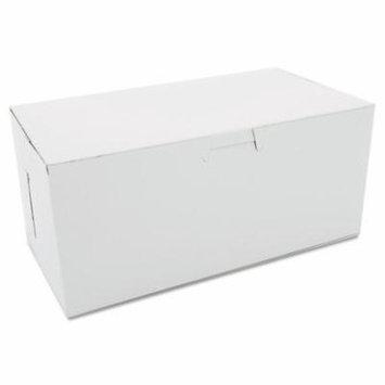Non-Window Bakery Boxes, 9 X 5 X 4, White, 250/carton