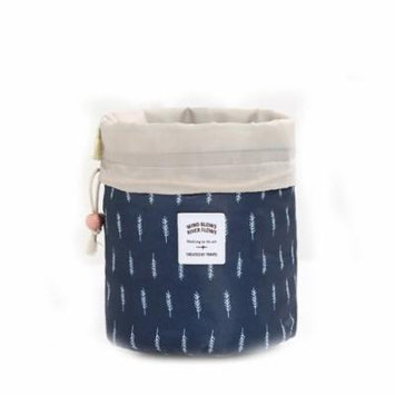 Mosunx Barrel Travel Cosmetic Drawstring Wash Makeup Organizer Storage Toiletry Bag