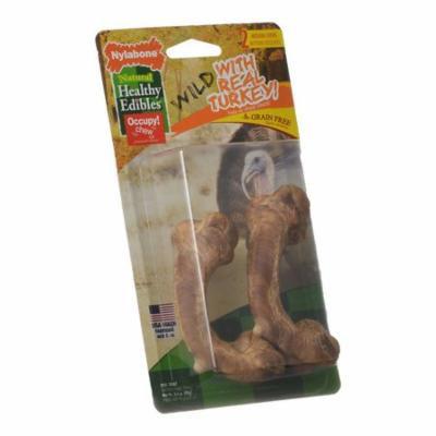 Nylabone Healthy Edibles Wild Chew Bone - Turkey Medium - 2 Pack - Pack of 3