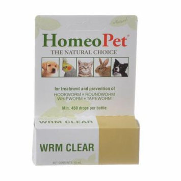 HomeoPet Wrm Clear for Dogs & Cats Worm Clear - 15 ml - Pack of 4