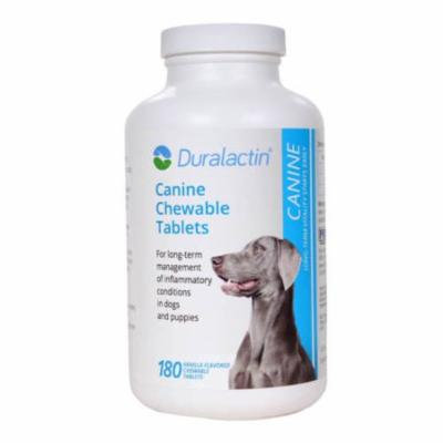 Duralactin Canine Microlactin 1000mg 180ct Chewable Vanilla Flavored Dog Tablet