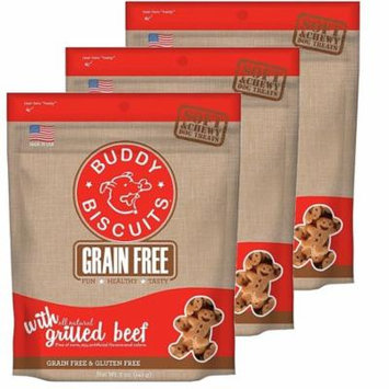 Cloud Star Buddy Biscuits 5 oz Soft & Chewy Dog Treats - Grilled Beef 3 Pack
