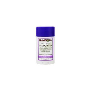 Long Lasting Deodorant Lavender Scent - 2.6 oz. by Nutribiotic (pack of 4)