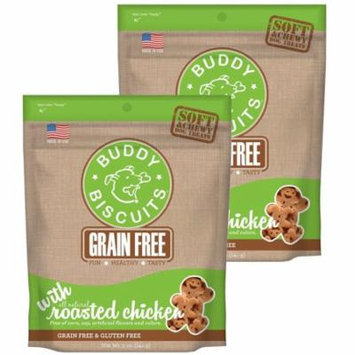 Cloud Star Buddy Biscuits 5 oz Soft & Chewy Dog Treats - Roasted Chicken 2 Pack