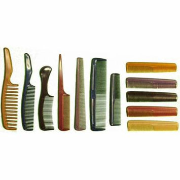 12 Piece Plastic Comb Variety Set, Fashionable Colors : ( Pack of 2 Sets ) (Hawk: CARE-82412-Z02)