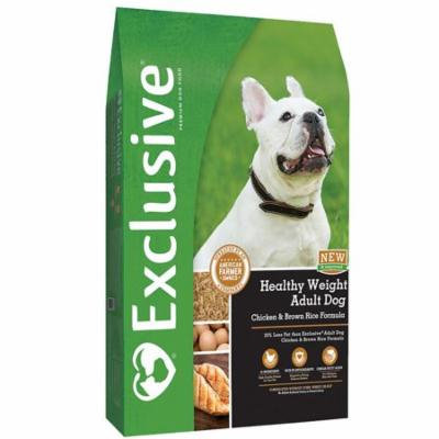 Exclusive Healthy Weight Adult Dog, Chicken & Brown Rice Formula, 15 lbs.