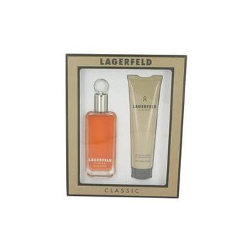 LAGERFELD by Karl Lagerfeld Gift Set -- 3.3 oz Eau De Toilette Spray + 5 oz Shower Gel