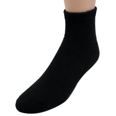 Doc Ortho Loose Fit Diabetic Socks, 3 Pairs, 1/4 Crew