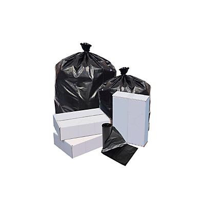 Highmark(TM) Linear Low Density Can Liners, 0.6-mil, 10 Gallons, 24in. x 23in., Black, Box Of 500