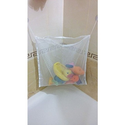 #1 Rated Baby/Todder Bath Tub Toys Organizer - Large Storage/Bag for Toys Even as a Shower Caddy + 2 Extra Strong Suction Cups! Mold Free Playtime! []