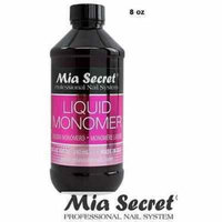Mia Secret Professional Acrylic Nail System Liquid Monomer 8 oz + Free Temporary Body Tatoo!